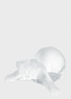 Хрустальная статуэтка Lalique Kitten Playing Кошка играющаяся, фото