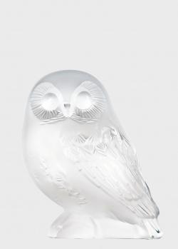 Статуэтка Lalique Owl из матового хрусталя в виде совы, фото