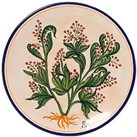 Тарелка настенная L'Antica Deruta Ботаника Erica, фото