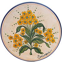 Тарелка настенная L'Antica Deruta Ботаника Satureia, фото
