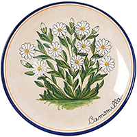 Тарелка настенная L'Antica Deruta Ботаника Camomilla, фото
