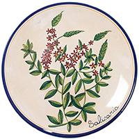 Тарелка настенная L'Antica Deruta Ботаника Salicaria, фото