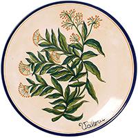 Тарелка настенная L'Antica Deruta Ботаника Valeriana, фото