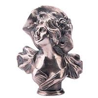 Фигура Оникс ручной работы Бюст девушки в шляпе, фото