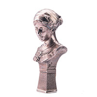 Серебряная фигура Оникс ручной работы Бюст девушки в платке, фото