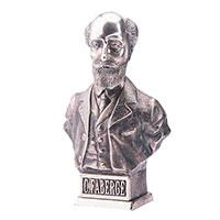 Серебряная фигура Оникс Бюст Карла Фаберже, фото