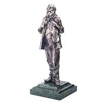 Серебряная фигура Оникс Еврей со скрипкой, фото