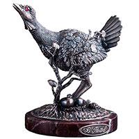 Серебряная шкатулка Оникс ручной работы Дрофа, фото