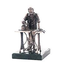 Статуэтка из серебра Оникс Еврейский портной за работой, фото
