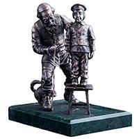Серебряная фигура Оникс ручной работы Закройщик, фото