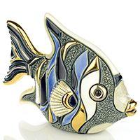 Фигурка De Rosa Rinconada Families Рыба-Ангел серо-бело-синяя, фото