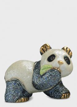 Фигурка De Rosa Rinconada Медвежонок Панда с листиком, фото