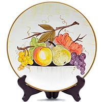 Тарелка настенная L'Antica Deruta Frutta di Campo, фото