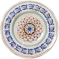 Тарелка настенная L'Antica Deruta Geometric из керамики, фото