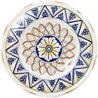 Тарелка настенная L'Antica Deruta Geometric круглой формы, фото