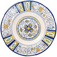 Настенная тарелка L'Antica Deruta Geometric с узором, фото
