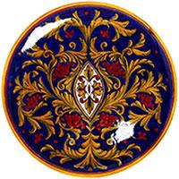 Большая настенная тарелка L'Antica Deruta Lustro Antico, фото