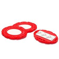 Набор бирок-наклеек Monkey Business La Bella Adhesive красные, фото