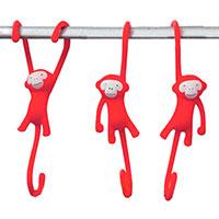 Крючки для кухни Monkey Business Just Hanging красные, фото