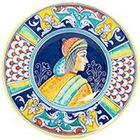 Тарелка настенная L'Antica Deruta Museo Plate круглая, фото