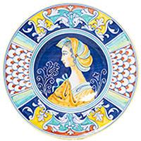 Круглая настенная тарелка L'Antica Deruta Museo Plate, фото