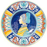 Тарелка настенная L'Antica Deruta Museo Plate керамическая, фото