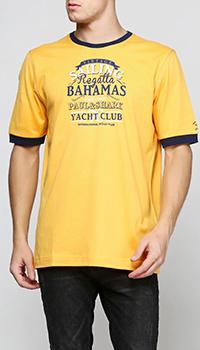 Желтая футболка Paul&Shark с принтом, фото