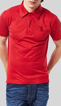 Футболка-поло Billionaire красного цвета, фото