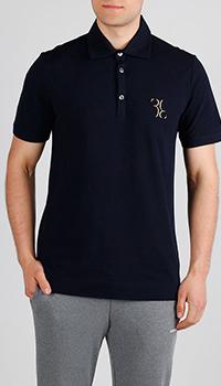 Темно-синее поло Billionaire с лого, фото