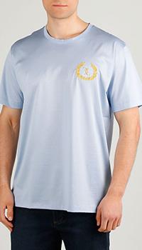Светло-голубая футболка Billionaire хлопковая, фото