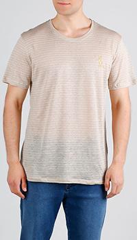 Бежевая футболка Billionaire из льна, фото