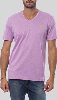 Розовая футболка Billionaire с V-образном вырезом, фото