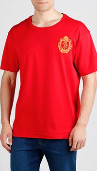 Красная футболка Billionaire с лого, фото