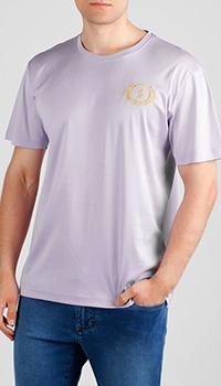 Лиловая футболка Billionaire из хлопка, фото