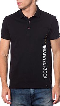 Мужское поло Roberto Cavalli черного цвета, фото