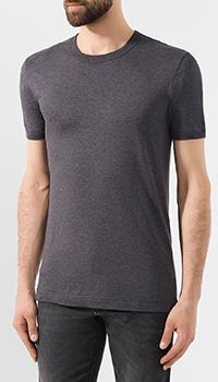 Однотонная футболка Dolce&Gabbana темно-серого цвета, фото