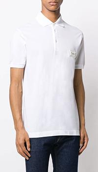 Белая футболка-поло Dolce&Gabbana из хлопка, фото