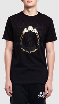 Хлопковая футболка Billionaire Baroque с принтом, фото