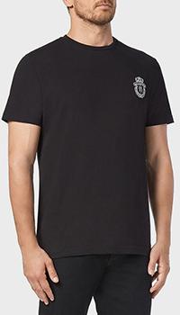 Черная футболка Billionaire с принтом на спине, фото