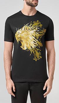 Черная футболка Billionaire с изображением льва, фото