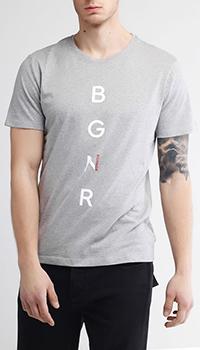 Серая футболка Bogner с принтом, фото
