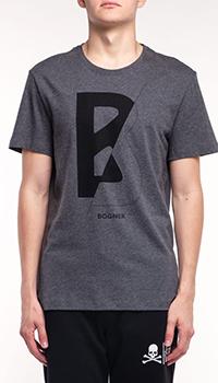 Мужская футболка Bogner Roc серого цвета, фото