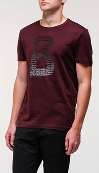 Бордовая футболка Bogner с большим логотипом, фото
