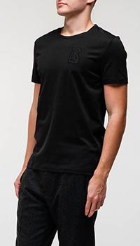 Черная футболка Bogner с лого на груди, фото