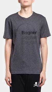 Серая футболка Bogner Roc с принтом-лого, фото