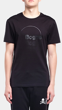 Футболка с лого Bogner Roc черного цвета, фото