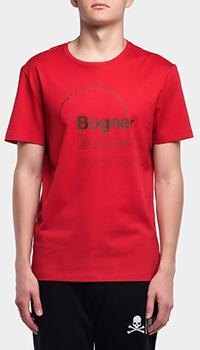 Красная футболка Bogner Roc из хлопка, фото