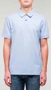 Футболка-поло Bogner голубого цвета, фото