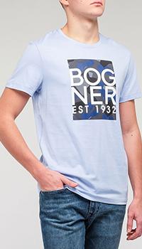 Мужская футболка Bogner голубого цвета, фото
