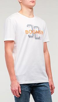 Футболка Bogner белая с принтом, фото